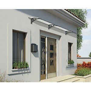 Palram Neo 2700 Twinwall Polycarbonate Door Canopy Grey - 2730 x 860 mm  sc 1 st  Wickes : door canopies edinburgh - pezcame.com