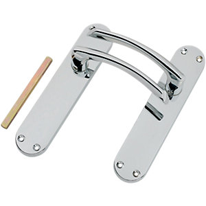 Wickes Dante Latch Door Handle - Polished Chrome 1 Pair