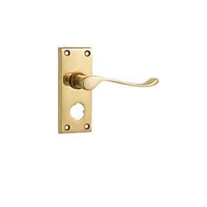Wickes Paris Victorian Scroll Privacy Door Handle - Polished Brass 1 Pair