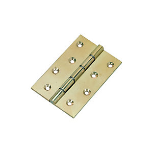 Wickes Butt Hinge - Brass 102mm Pack of 3