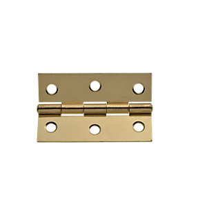 Wickes Butt Hinge - Brass Plated 76mm Pack of 2