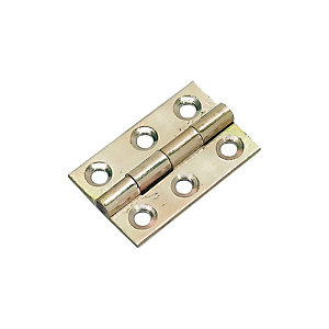 Wickes Butt Hinge - Solid Brass 38mm Pack of 2