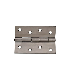 Wickes Butt Hinge - Stainless Steel 102mm Pack of 3