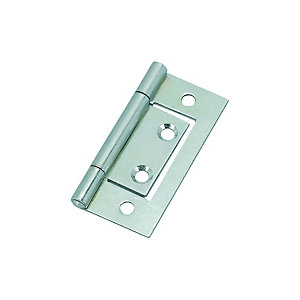 Wickes Flush Hinge - Zinc 51mm Pack of 2