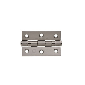 Wickes Grade 7 Fire Rated Ball Bearing Hinge - Satin 75mm Pack of 2