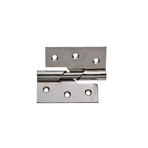 Wickes Rising Butt Hinge Right Hand - Chrome 76mm Pack of 2