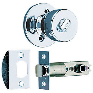 Wickes Privacy Door Knob Set - Chrome 1 Pair