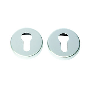 Wickes Euro Profile FD062 Escutcheon - Satin Aluminium