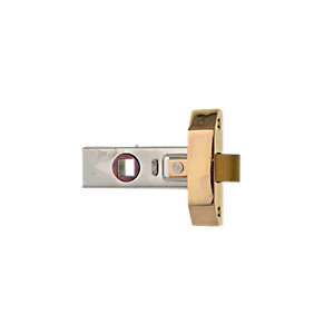 Wickes Rebated Tubular Door Latch - Brass 63mm