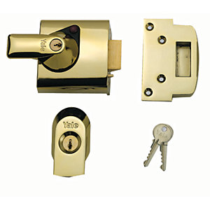 Yale P-BS1-BLX-PB-60 British Standard Nightlatch Lock - Brass 60mm
