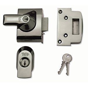 Yale P-BS2-CH-CH-40 British Standard Nightlatch Lock - Chrome 40mm