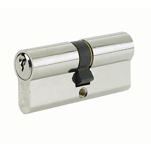 Yale P-ED3545-SNP Euro Profile Cylinder Lock - Nickel 35 x 10 x 45mm