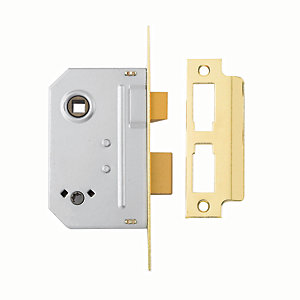 Yale P-M236-PB-63 Bathroom Sashlock - Brass 64mm