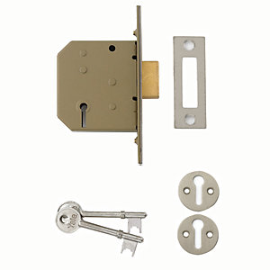 Yale P-M322-CH-65 3 Lever Deadlock - Chrome 64mm