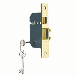 Yale P-M550-PB-65 5 Lever Sashlock - Brass 64mm