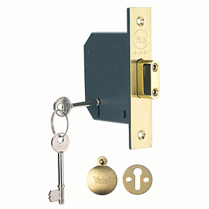 Yale P-M552-PB-65 5 Lever Deadlock - Brass 64mm