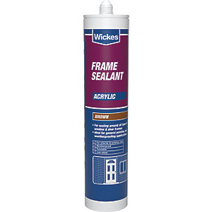 Wickes Frame Acrylic Sealant - Brown 310ml