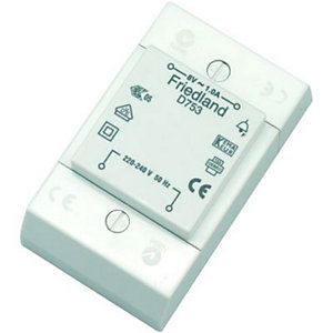 Wickes Door Chime Transformer - 8V