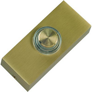 Wickes Push Button Doorbell - Solid Brass