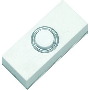 Wickes Push Button Doorbell - White