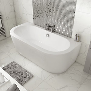 Wickes Blend D - Shaped - Double Ended Bath - 1700mm x 800mm