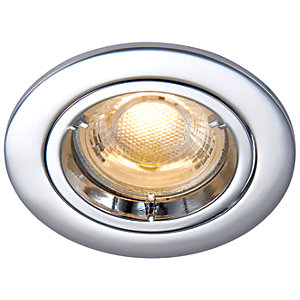 Saxby GU10 Cast Fixed Downlight - Chrome Effect