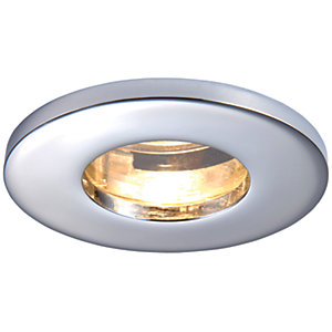 Saxby GU10 IP65 Cast Fixed Downlight - Chrome Effect