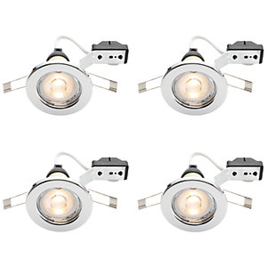Wickes Chrome LED Downlight - 4.8W - Pack of 4