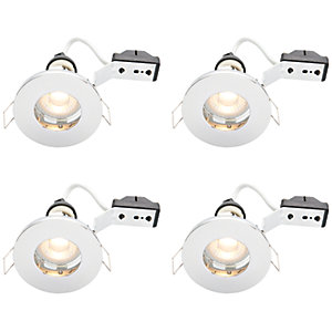 Wickes Chrome LED IP65 Downlight - 4W - Pack of 4