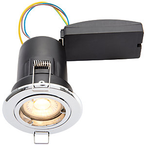 Wickes Chrome LED Premium Fire Rated Downlight - 6W