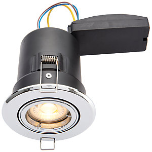 Wickes Chrome LED Premium Fire Rated Tilt Downlight - 6W
