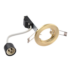Wickes Fixed Downlights Brushed Gold 10 Pack
