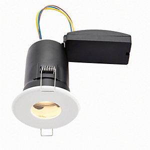 Wickes White LED Fire Rated IP65 Bathroom Downlight - 6W