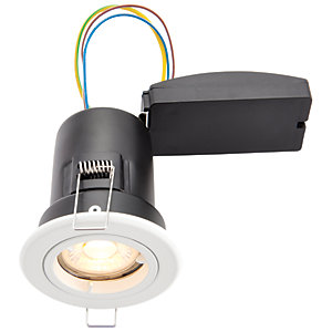 Wickes White LED Premium Fire Rated Downlight - 6W
