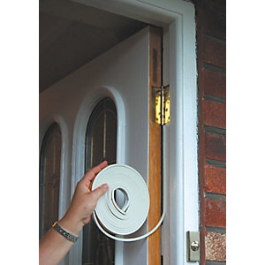 Stormguard Silent Acoustic Door Seal White - 6m