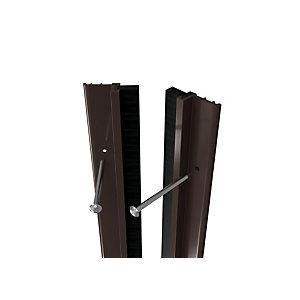 Wickes Full Door PVC Draught Excluder Brown - 5028mm