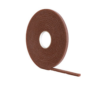 Wickes Soft Foam Draught Seal Brown - 10m
