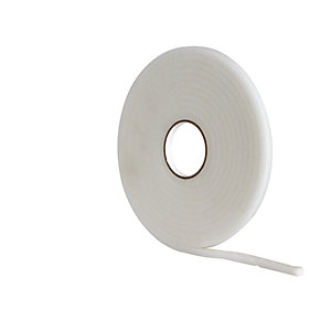 Wickes Soft Foam Draught Seal White - 10m