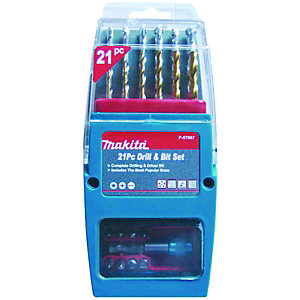 Makita P-57087 21 Piece Drill & Bit Set
