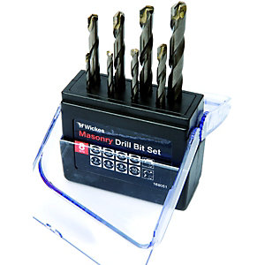 Wickes Masonry Drill Bit Set - Pack of 8
