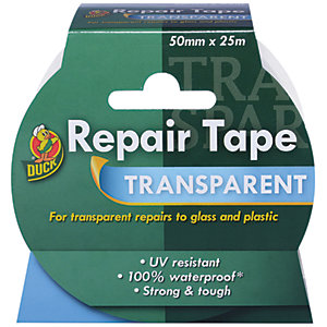 Duck Tape Repair Tape Transparent 50mm x 25m