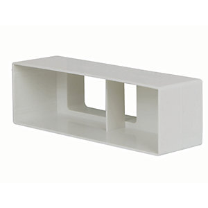 Manrose PVC Air Brick Adaptor - White 110mm