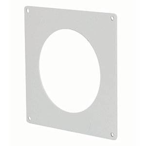 Manrose PVC Round Wall Plate - White 100 x 154mm
