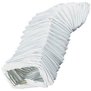 Manrose PVC White Rectangular Flexible Ducting - 100mm x 3m