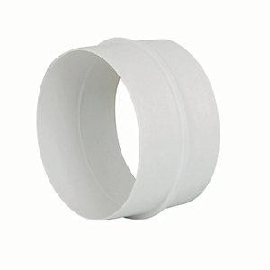 Manrose PVC White Round Pipe Connector - 100mm