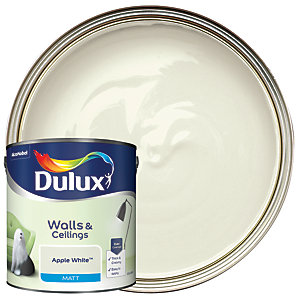 Dulux - Apple White - Matt Emulsion Paint 2.5L