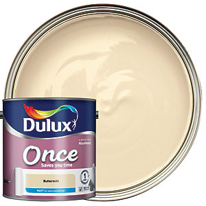 Dulux - Buttermilk - Once Matt Emulsion Paint 2.5L