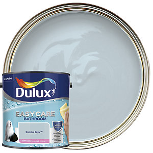 Dulux Easycare Bathroom Soft Sheen Emulsion Paint - Coastal Grey 2.5L