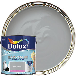 Dulux Easycare Bathroom Soft Sheen Emulsion Paint - Warm Pewter 2.5L