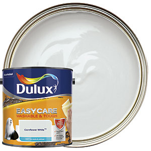 Dulux Easycare Washable & Tough - Cornflower White - Matt Emulsion Paint 2.5L